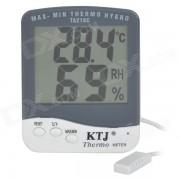 """""""TA218C digital 3.9 """"""""LCD temperatura termometro de prueba de humedad - blanco + gris (1 x AAA)"""""""