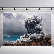 Zhyxia Zhy 7x5ft Explosión volcánica FotografíaDenso HumoFondoGris Cielo Telón de FondoFenómeno NaturalTelón deFondo de poliésterAccesorios de Estudio 215
