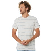 Rip Curl Plain Stripe Mens Tee Bone Bone