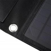 EH 15W plegable Solar Travel Panel de camping cargador de batería portátil Negro