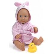 Dolls World - REA - Dolls World Baddocka med badrock Rosa 41 cm
