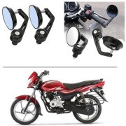 AutoStark 7/8 22cm Motorcycle Rear View Mirrors Handlebar Bar End Mirrors - Bajaj Platina 100 DTS-i
