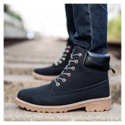 Botas Hombre Martin Alto Zapatos De Los Hombres Al Aire Libre -Negro