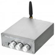 Inalambrico BT V4.0 amplificador de audio subwoofer digital de alta fidelidad - gris plata