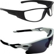 Zyaden Sports, Wrap-around Sunglasses(Multicolor, Clear)