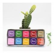 20 Colores/Set DIY Coloridas Embarcaciones Artesanales Almohadilla De Tinta Fotográfica álbum Sellos Juguetes