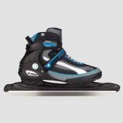 NIJDAM Semisoft schaatsen zwart/blauw Heren - zwart/blauw - Size: 40