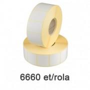 Félfényes etikett címke, 50x20mm, 6660 címke/tekercs