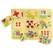 Bigjigs Toys BJ535 Picture and Number Matching Puzzle