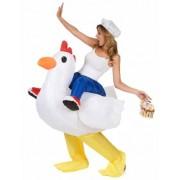 Disfarce galinha insuflável adulto