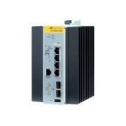 Allied Telesis AT IE200-6GP - Commutateur - Géré - 4 x 10/100/1000 (PoE+) + 2 x Gigabit SFP - Montage sur rail DIN, fixation murale - PoE+ - Tension CC