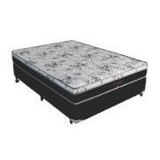 Conjunto Box Colchão Pelmex Molas Pocket Beauty Bambu + Cama Box Nobuck Nero Black - Conjunto Box King Size - 193 x 203