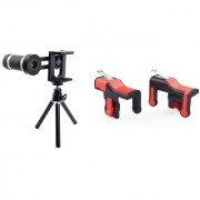Telescope Mobile Lens and Red Pubg trigger ||Telescope Lens|| Mobile Lens||Universal Mobile Lens ||Telescope Lens||Zoom Lens||So Best and Quality Compatible with all your devices XDR_348