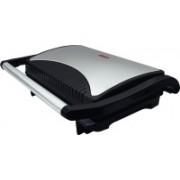 Orbon 700 Watt Press Grill | Panini Press | Sandwich Maker Grill, Toast(Silver & Black)