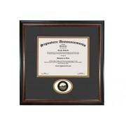 Signature Announcements University-of Montana-Western Undergraduate, Marco de Diploma de graduación con Sello de Aluminio esculpido, 16 x 16 Pulgadas, Caoba Mate