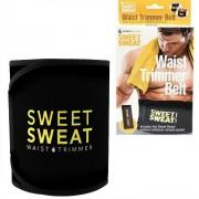 V&V Neoprenový pás na hubnutí Sweet Sweat, černý - žlutý - V&V