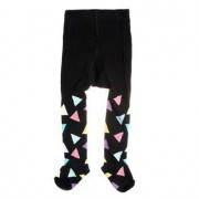Happy socks Kids Triangle Tights Black * Fri Frakt * * Kampanj *
