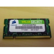 Memorie laptop 2GB DDR2 Corsair ValueSelect VS2GSDS667D2