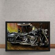 Quadro Decorativo Moto Custom Jack Daniels 25x35