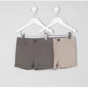 River Island Baby Boys Khaki and stone shorts multipack (4-5 Yrs)
