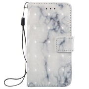 iPod Touch 5G, iPod Touch 6G Marble Wallet Case - Wit / Grijs