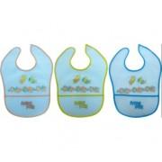 Baveta plastic cu buzunar 4 luni+ R0551 Primii Pasi