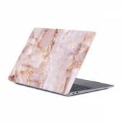 Set protectie 2 in 1 pentru Macbook Air 13.3 inch A1932 cu husa din plastic si folie ecran TPU, model marmura rose gold