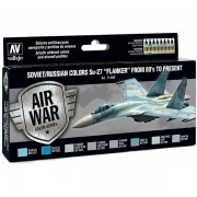 "Vallejo Model Air Paint Set - Soviet/Russian Colors Su-27 ""Flanker"" from 80's to Present - 71602"