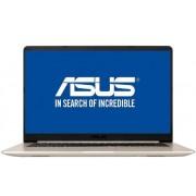 "Laptop ASUS VivoBook S510UA-BQ482 (Procesor Intel® Core™ i5-8250U (6M Cache, 3.40 GHz), Kaby Lake, 15.6""FHD, 8GB, 1TB HDD@5400RPM + 128GB SSD, Intel® HD Graphics 620, Tastatura Iluminata, Wireless AC, FPR, Endless OS, Auriu)"