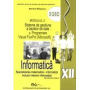 Informatica. Manual pentru clasa a XII-a modulul 2 SGBD
