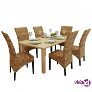 vidaXL Blagovaonske stolice od abake 6 kom smeđe