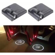 2pcs LED Ghost Sombra Luz, Puerta De Auto Con Pantalla LED Laser Luz Decorativa, Logotipo De La Marca Chevrolet Coche (negro)