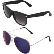 Zyaden Combo of Wayfarer Sunglasses Aviator Sunglasses (Combo-5)