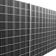 [neu.haus]® Rollo de aislamiento (negro)(35m) para vallas y demás superficies - Lámina de ocultación protege contra el viento