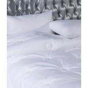 Blanco Edredón nórdico blanco 180x220 - Edredón cama 105 cm - Edredón invierno 350 gr.