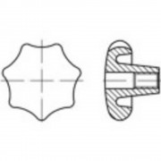 TOOLCRAFT drška zvjezdasta DIN 6336 8 mm od sivog lijeva 10 komada