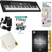 Homeschool Music - Learn to Play the Piano Pack (Beatles Hits 5 Finger Bundle) - Includes Casio CTK 2550 Keyboard w/Adapter, learn 2 Play DVD/Book, Books & All-Inclusive Learning Essentials