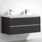 Thalassor Meuble salle de bain double vasque 120 cm CITY gris