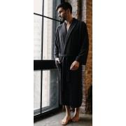 Five Wien Облегченный мужской халат из бамбукового волокна темно-серого цвета Five Wien FW1301 Антрацит