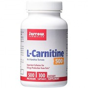 Jarrow Formulas L-Carnitine Tartrate For Brain Energy and Heart Support 500mg 100 Capsules