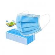 Masti de protectie de unica folosinta, EN 149, 3 straturi, 50 bucati/set, albastru