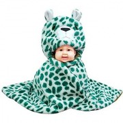 Brandonn Newborn Baby Blanket - CHEETAH CUB Ultrasoft Premium Quality Hooded Blanket Cum wrap For Babies(Green-White- Cheetah Cub Pack Of 1)