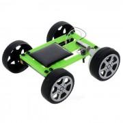 DIY educativo ensamblado de energia solar mini coche vehiculo juguete para ninos / ninos - verde + negro