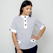 Női rövid ujjú póló fehér elemekkel 10828