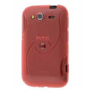 HTC Wildfire S Wave Case - HTC Soft Cover (Red)