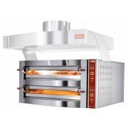 Diamond Four électrique à pizzas, 2 chambres 2 x 6 Pizzas Ø 35cm 400V 7,8 kW 1190x1460x(H)780mm