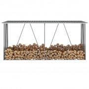 Sonata Навес за дърва, поцинкована стомана, 330x84x152 см, сив