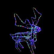 Ren de Craciun 3D Animat cu LEDuri Multicolore