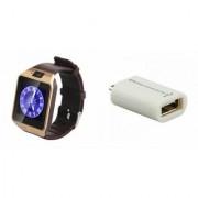 Zemini DZ09 Smart Watch and Smart OTG for SAMSUNG GALAXY NOTE 4(DZ09 Smart Watch With 4G Sim Card Memory Card| Smart OTG)