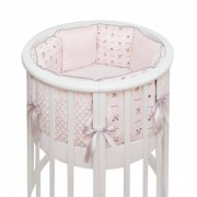 Fluffymoon Комплект в кроватку Fluffymoon Lovely Baby в круглую подушки (5 предметов)